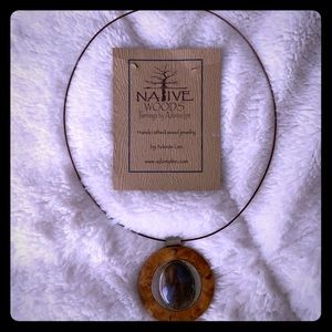 Agate necklace handmade by Adonis Lee